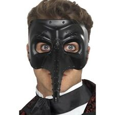 Mens Venetian Gothic Capitano Mask Nose Fancy Dress Fun Costume Masquerade Ball