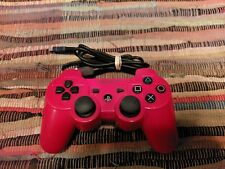 Sony PlayStation 3 Red Dual Shock Wireless Gaming Controller PS3 w/charger