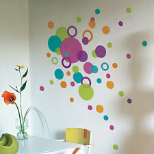 88 Dots Circle Wall Stickers Multi Colour Size Children Nursery Kid Sticker 413