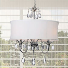 Crystal Chandelier Lighting Pendant Ceiling Fixture 3-Light Lamp Mount Shade New