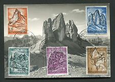 SAN MARINO MK 1963 DOLOMITI VIA SASSONI BERGE MAXIMUMKARTE MAXIMUM CARD MC d1307