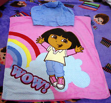 100%Cotton 120x60cm Pink Dora the Explorer Poncho Beach Bath Hooded Towel NEW