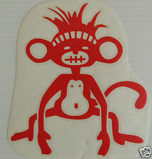 "Funny ""Funky Monkey"" Vinyl Sticker/Decal Festival/beach/Surf/Car"