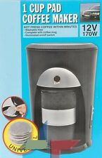 CAFETIERE 12V VOYAGE VOITURE AUTO TASSE DOSETTE CAFE ALLUME CIGARE 170W NEUF 72