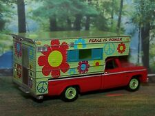 1965 DODGE TRUCK HIPPIE FLOWER POWER CAMPER 1/64 COLLECTIBLE  MODEL - DIORAMA