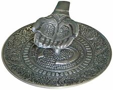 Offering OM Sign Hands Metal Burner Sage Smudge Cone Incense Altar 4.75 inchs **
