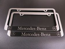 (2pcs) Mercedes-Benz Halo Chrome Metal License Plate Frame