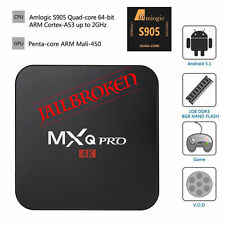 MXQ Pro Smart TV Box completamente caricato Kodi 16.0 4k Android 5.1 Quad Core Lettore multimediale