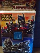 Transformers Revenge of the Fallen BIRTHDAY Invitations & Thank You Notes - 8 ct