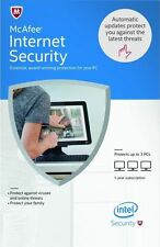New McAfee Internet Security 2017 , 3 PCs 1 Year , Fast delivery