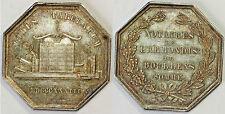 JETON  NOTAIRES DE L'ARRONDISSEMENT DE DOULLENS SOMME ARGENT 1833
