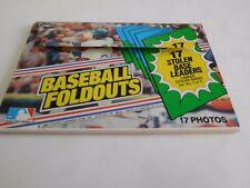1983 TOPPS Baseball FOLDOUTS Stolen Base Leaders Oversize Card Set NICE