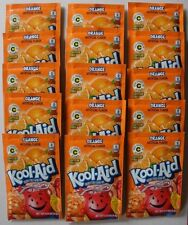 15 packets of KOOL-AID drink mix: ORANGE flavor, powdered, UNSWEETENED