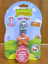 Moshi Monsters Series 1 Rocky #28 & Fumble #53 & Mystery Monster NIP