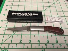 Boker Magnum Damascus King Folder Burl Wood 01MB559DAM 57 Layers Pocket Knife