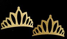 Princess Gold Sparkeling Tiara Crown Die Cut Handmade With Card Stock