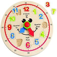 Toddler Toy Hape Happy Hour Clock Time Learning Puzzle Kids Play Game New Gift