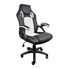 NEO WHITE BUCKET OFFICE DESK/GAMING CHAIR FAUX LEATHER *FREE NEXT DAY DELIVERY*