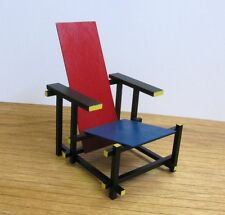 GERRIT RIETVELD RED & BLUE CHAIR,1:6 Miniature Furniture model,Modern Art Design