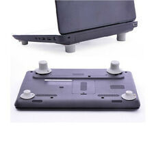 4pcs Laptop Notebook Computer Cooling Feet Stand Holder Heat Reduction Gray Pad