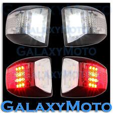 01-13 GMC Sierra White LED License Plate+Red LED Rear Facing Running+brake Light