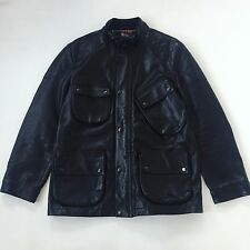 Polo Ralph Lauren Leather Coat Size XL Goose Jacket 1992 P Wing Sport