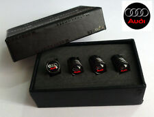 Audi Deluxe Black Chrome Wheel Valve Dust Caps. RS4 Quattro RS6 Avant A4 A6 Q7
