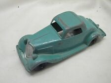 Vintage Hubley 404 Die-Cast Metal Toy Car Roadster Ford Blue Green Coupe