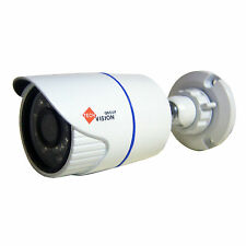 New Indoor/Outdoor Ahd 720p Hd Small Bullet Camera 20m Night Vision White