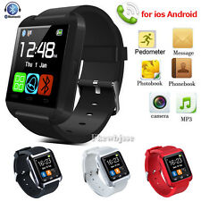 Bluetooth Smart Wrist Watch Relojes inteligent For Iphone Android samsung Black