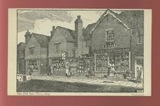 Surrey HASLEMERE The Old Barn Shop artist Gilbert Rumbold c1940/50s? PPC