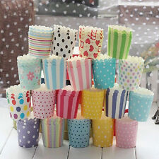 50pcs Disposable Cake Baking Paper Cup Cupcake Muffin Cases fit Home Party
