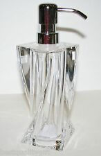 NEW HOTEL BALFOUR CLEAR ACRYLIC SPIRAL,TWISTED SOAP+LOTION DISPENSER,SILVER PUMP