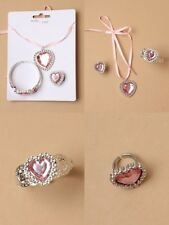 CHILDREN'S, GIRLS, PINK PLASTIC JEWELLERY SET, NECKLACE, RING, BRACELET : 0070