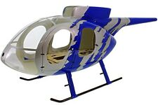 MD 500E RUMPFBAUSATZ Jive Blue f. 700er Helicopter zB. T-Rex Raptor Log fuselage