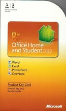 Microsoft Office 2010 Home and Student Product Key Card PKC Retail 79G-02020 NEW