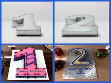 "10"" NUMBER 2 TWO AND 1 ONE WEDDING BIRTHDAY ANNIVERSARY CAKE TINS PANS"