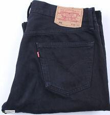 Levi's 501 Droit Ajusté Noir Pour Hommes Taille Du Jean W36 L32 Coton