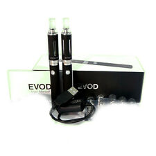 BLACK 2×Twin Evod, NON cigarette & Starter Kit E- shisha  USB charger