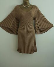 ᴥᴥBNWT MONSOON GOLD KNIT JUMPER DRESS CLEOPATRA SZ S 8 10 FLAPPER 20'S VINTAGEᴥᴥ