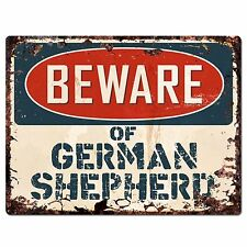 PP1533 Beware of GERMAN SHEPHERD Plate Rustic Chic Sign Home Store Decor Gift