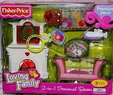 New Fisher Price Loving Family 2-in-1 Seasonal Room Doll House Furniture Set