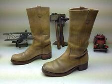 VINTAGE GOLD DISTRESSED SQUARE TOE ENGINEER MADE IN USA LEATHER BOOTS SIZE 9 D