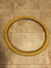 Yellow 26 x 2.125 TIRES SWALLOW COMP 2 TREAD VINTAGE bmx cruiser cook bros gt dg