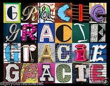 GRACIE Name Poster - photos of sign letters - personalized