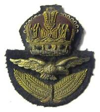 WW2 RAF Officer Cap Badge WWII Hat & Eagle Kings Crown Royal Air Force KC Aged