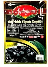 Aydogmus schwarze Oliven fleisch und wenig gesalzen 700g - Siyah Zeytin