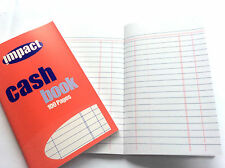 Full Size A6 Cash Book for Business Office Accounts 100 Pages Pocket compact