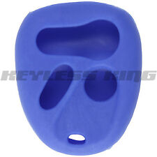 New Blue Keyless Remote Key Fob Case Skin Jacket Cover Protector 4 Button