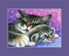 Tabby Cat ACEO Print Tired At The End Of The Day By I Garmashova